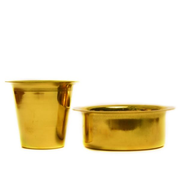 brass filter coffee dabara set