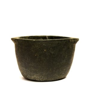 soapstone cooking pot side view