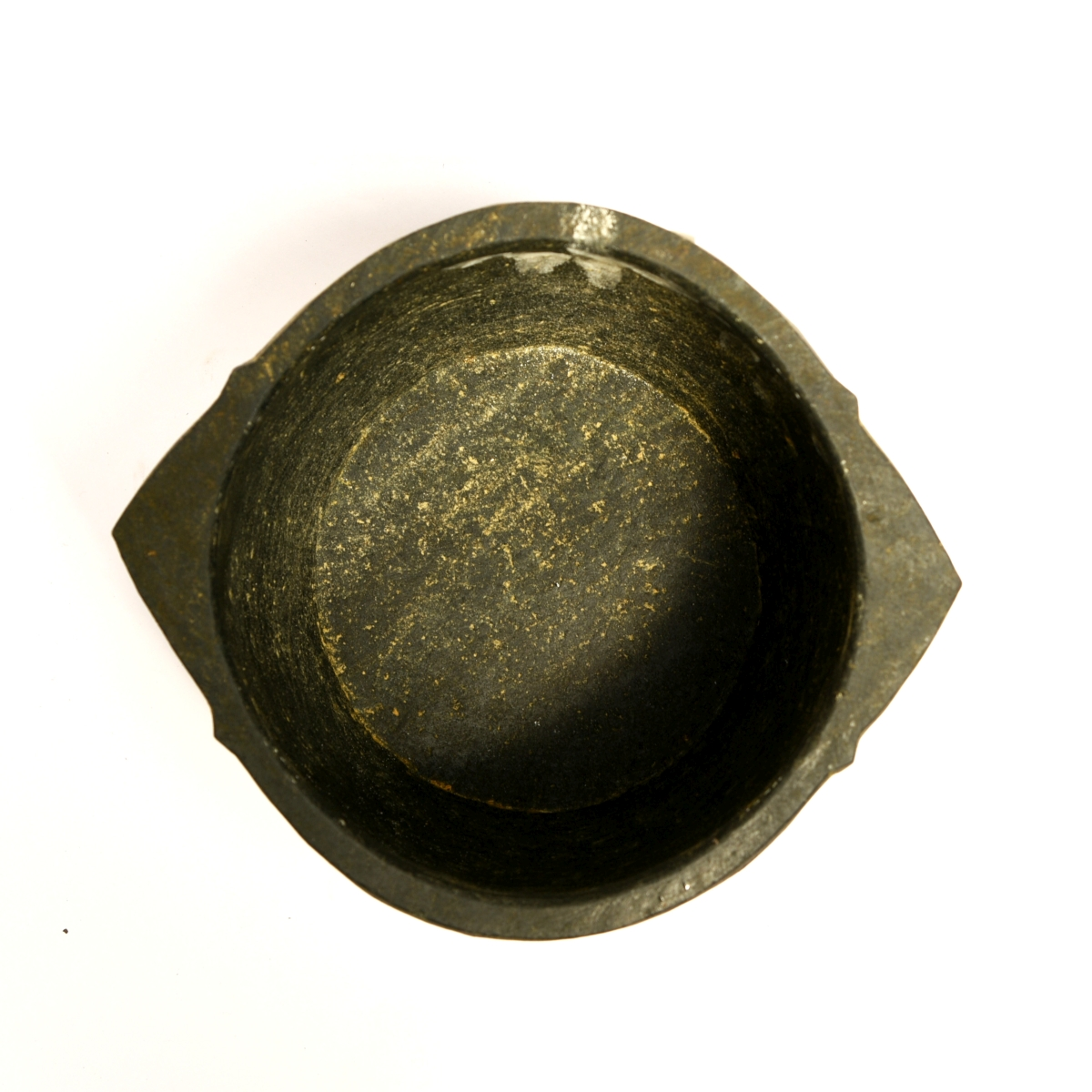soapstone cooking pot top view