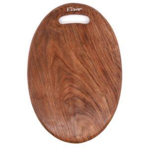 oval wooden cutting board