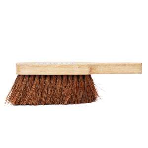 natural cleaning brush with handle