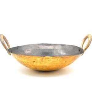 traditional brass kadai online