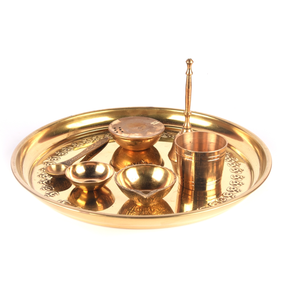 brass pooja set