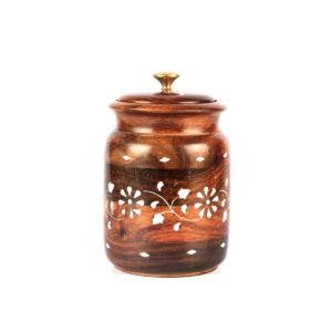 wooden salt container