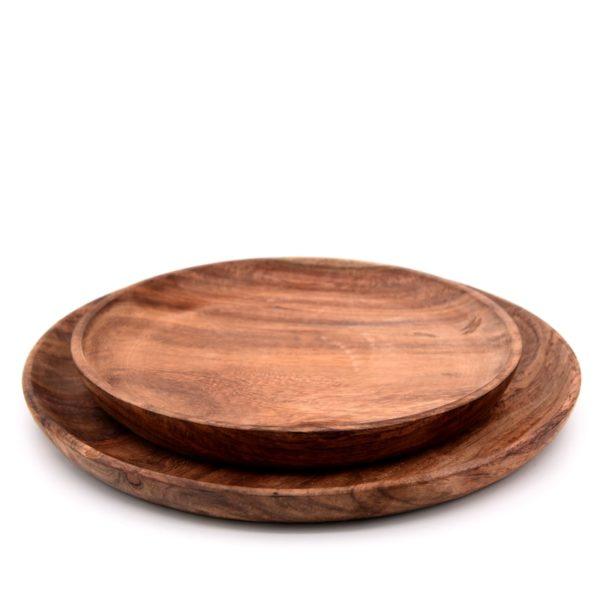 kitchenware wooden plates