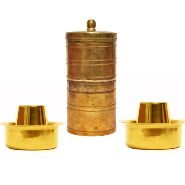 brass south indian coffee filter and davara set