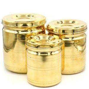 brass kitchen container set